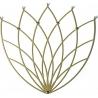Stylowy Wieszak metalowy ścienny Lotos M złoty Polyhedra na ubrania do przedpokoju i poczekalni.