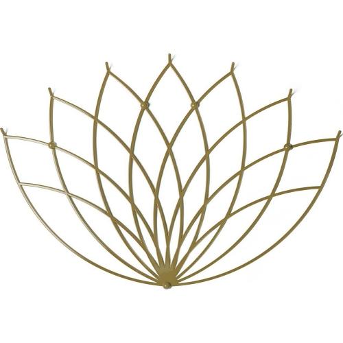 Stylowy Wieszak metalowy ścienny Lotos L złoty Polyhedra na ubrania do przedpokoju i poczekalni.
