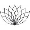Stylowy Wieszak metalowy ścienny Lotos L czarny Polyhedra na ubrania do przedpokoju i poczekalni.