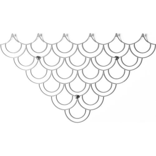 Stylowy Wieszak ścienny metalowy Husk M biały Polyhedra na ubrania do przedpokoju i poczekalni.