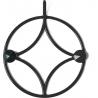 Stylowy Wieszak ścienny metalowy Holo XS czarny Polyhedra na ubrania do przedpokoju i poczekalni.
