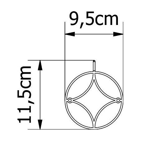 Stylowy Wieszak ścienny metalowy Holo XS zloty Polyhedra na ubrania do przedpokoju i poczekalni.