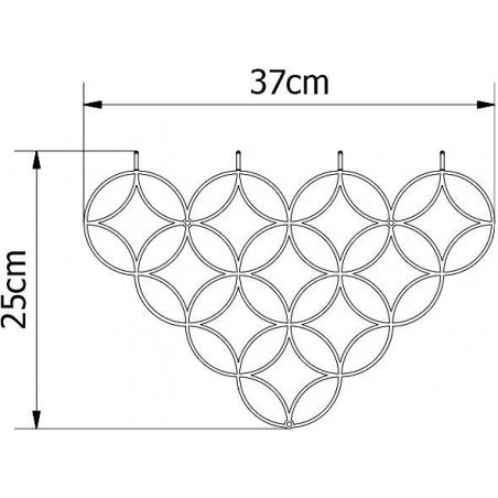 Stylowy Wieszak ścienny metalowy Holo S biały Polyhedra na ubrania do przedpokoju i poczekalni.