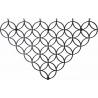 Stylowy Wieszak ścienny metalowy Holo M czarny Polyhedra na ubrania do przedpokoju i poczekalni.