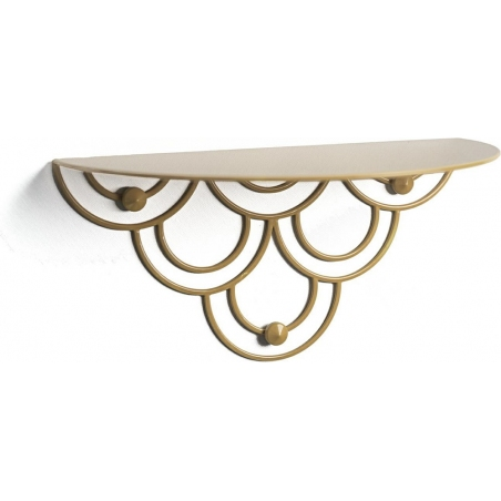 Husk M gold decorative wall shelf Polyhedra