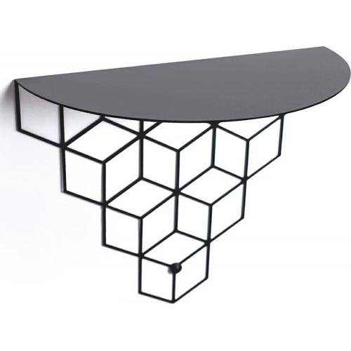 Stiga M black decorative wall shelf Polyhedra