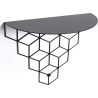 Stiga M black decorative wall shelf Polyhedra