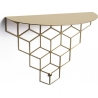Stiga M gold decorative wall shelf Polyhedra