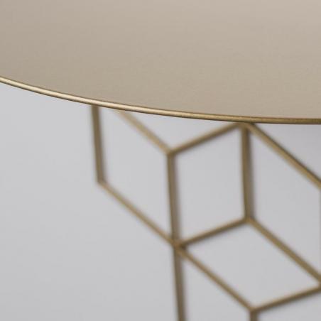 Stiga M gold decorative wall shelf Polyhedra