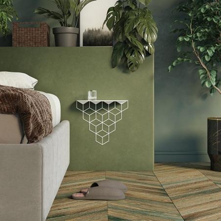 Stiga M white decorative wall shelf Polyhedra