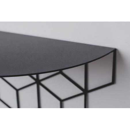 Stiga S black decorative wall shelf Polyhedra