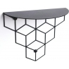 Stiga S black decorative wall shelf Polyhedra