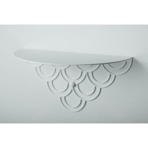 Husk M white decorative wall shelf Polyhedra