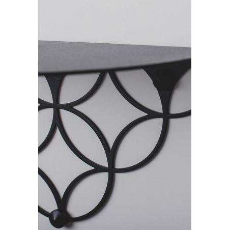 Holo S black decorative wall shelf Polyhedra