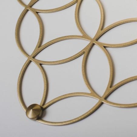 Holo S gold decorative wall shelf Polyhedra