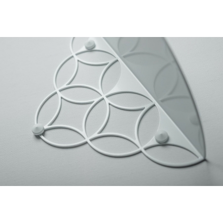 Holo S white decorative wall shelf Polyhedra