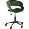 Grace VIC forest green velvet office chair Actona