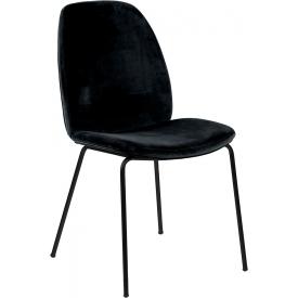 Stylowe i wygodne Krzesło welurowe Carmen VIC czarne Actona do salonu.