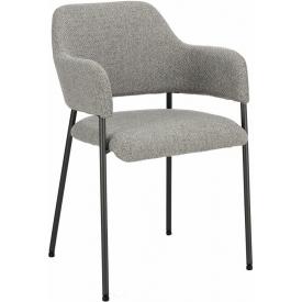 Wygodne Krzesło fotelowe tapicerowane Gato szare Intesi do kuchni i salonu.
