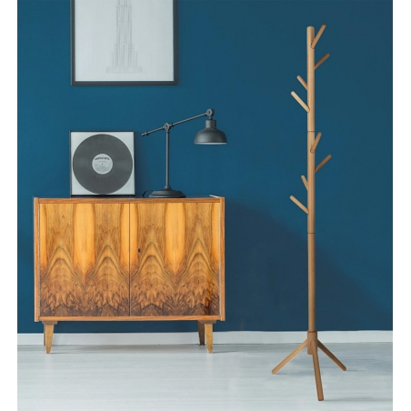 Madura beech wooden coat stand Intesi