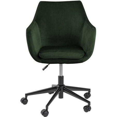Nora VIC green velvet office chair Actona