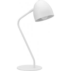 Stylowa nocna/Lampa stołowa skandynawska Soho biała TK Lighting do sypialni.
