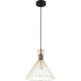 Elegancka Lampa wisząca druciana geometryczna Sahara 30 złota TK Lighting do kuchni i salonu.