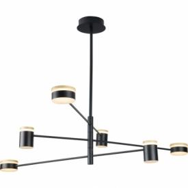 Stylowa Lampa wisząca regulowana loft Puma 123 LED czarna MaxLight nad stół.
