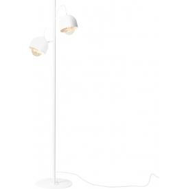 Stylowa Lampa podłogowa 2 punktowa Beryl White biała Aldex do salonu i sypialni