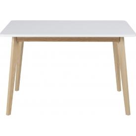 Skandynawski Stół prostokątny Raven 120x80 Biały Actona do salonu, jadalni i kuchni.