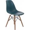 Stylowe Krzesło skandynawskie DSW Armless Ciemno Zielone D2.Design do salonu i jadalni.