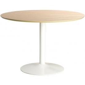 Skandynawski Stół okrągły na jednej nodze Ibiza 110 Dąb Actona do salonu, jadalni i kuchni.