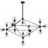 Astrifero XV transparent&black designer glass balls lamp Step Into Design