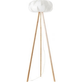 Addi 68 light wood&white tripod floor lamp Brilliant