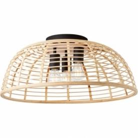 Crosstown 56 light wood&black boho bamboo ceiling lamp Brilliant