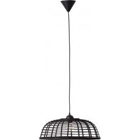 Crosstown 48 dark wood&black bamboo pendant lamp Brilliant