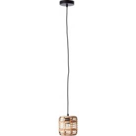 Crosstown 16 light wood&black boho bamboo pendant lamp Brilliant