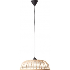 Crosstown 48 light wood&black boho bamboo pendant lamp Brilliant