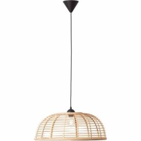 Crosstown 56 light wood&black boho bamboo pendant lamp Brilliant