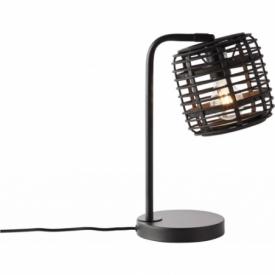 Crosstown dark wood&black bamboo table lamp Brilliant