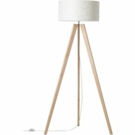 Galance 50 light wood&white tripod floor lamp Brilliant
