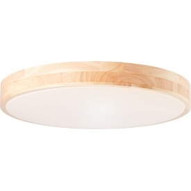 Slimline LED 49 wooden ceiling lamp with remote control Brilliant