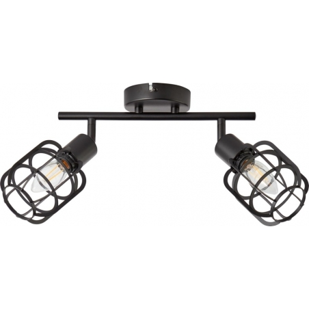 Spacid II black wire ceiling spotlight Brilliant