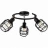 Spacid III black wire ceiling spotlight Brilliant
