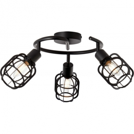 Spacid III black wire ceiling spotlight Brilliant