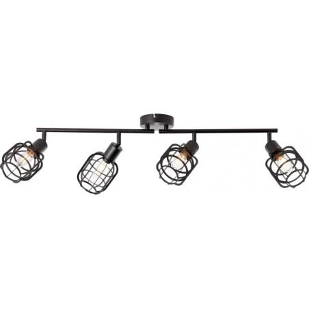 Spacid IV black wire ceiling spotlight Brilliant