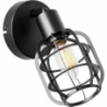 Spacid black wire loft wall lamp Brilliant