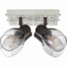 Tolosa IV cream&smoke glass rustic ceiling spotlight Brilliant
