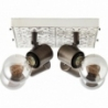 Vagos IV black&white rustic ceiling spotlight Brilliant
