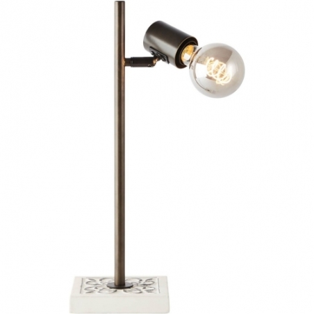 Vagos Tall black&white rustic table lamp Brilliant